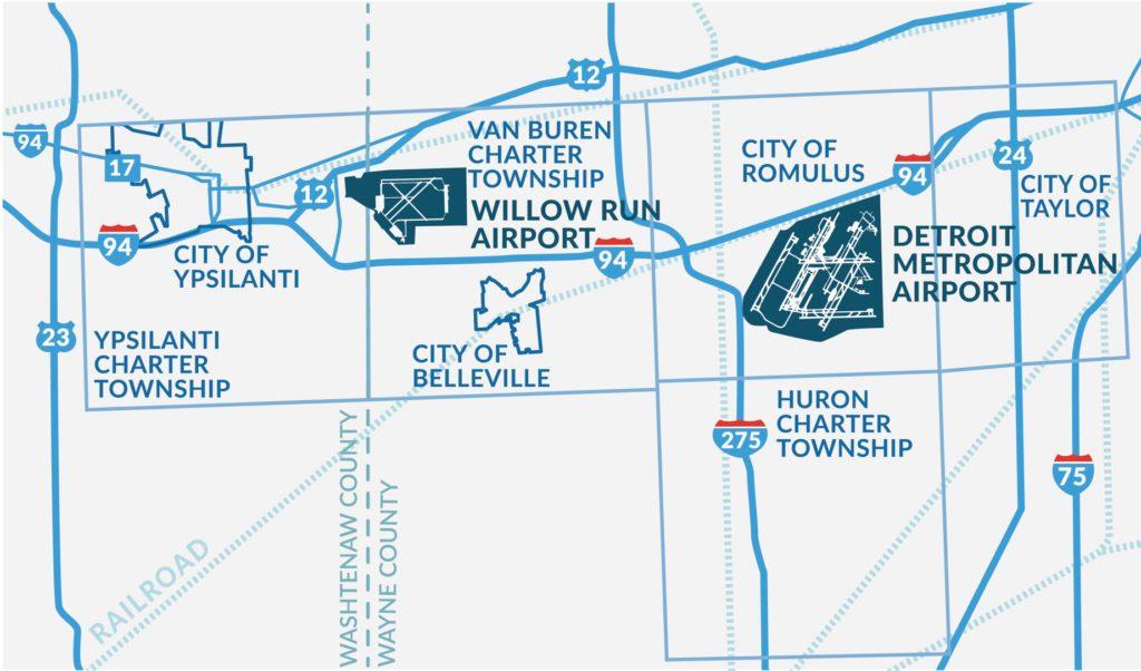 Detroit Region Aerotropolis Map