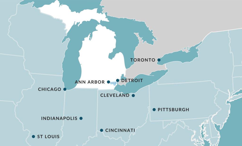 Detroit Region Aerotropolis Midwest Map